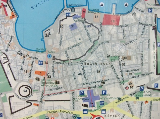 wegwijzer kaart Chania